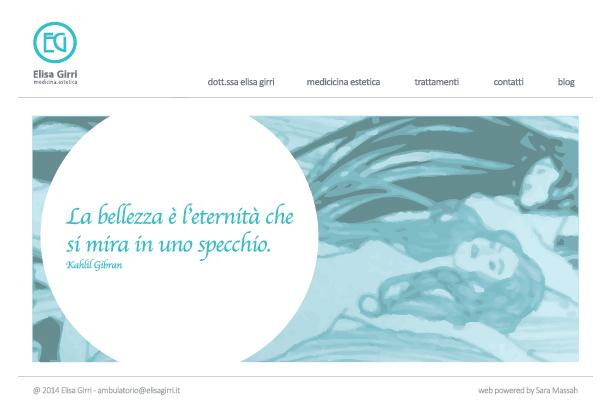 sara massah web designer-elisa-girri-medicina estetica brand design